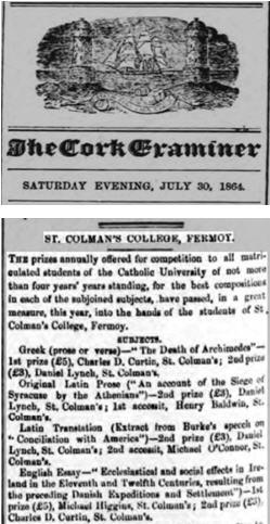 Cork Examiner 30 July 1864