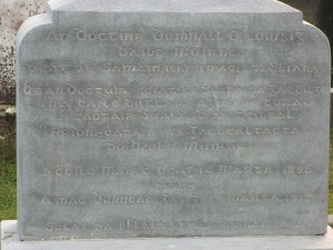 Dr Lynch Gravestone Inscription