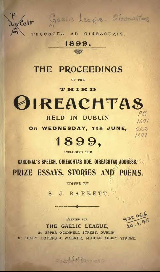 Oireachtas Title Page