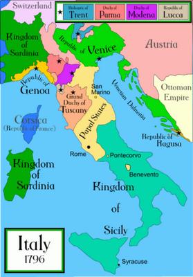 Papal States Map