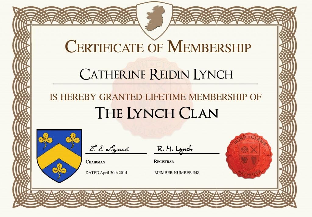 MyCertificate LynchClan